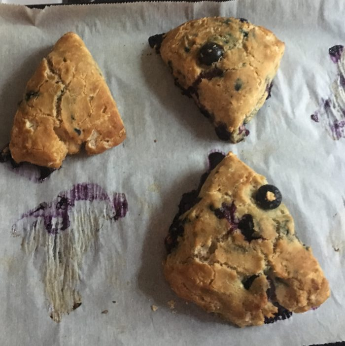 Gluten Free and Dairy Free Blueberry Scones